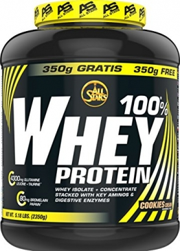 All Stars 100% Whey Protein, Cookies-Cream, 1er Pack (1 x 2350 g) - 1